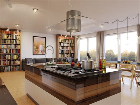 kitchen free standing islands luxury kitchen island table with picture and bookshelf