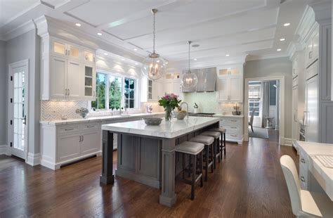 gray kitchen island white kitchen cabinets with gray kitchen island transitional kitchen blue water home builders
