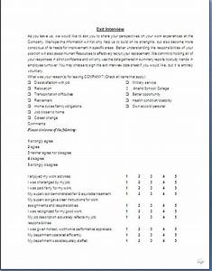 exit interview form format in doc pdf With free employee exit interview template