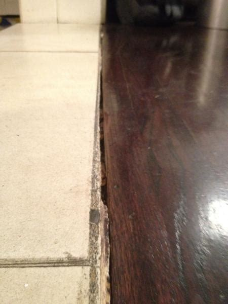 wood floor  stone transition doityourselfcom