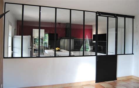 meuble haut cuisine avec porte coulissante verrière acier toulouse porte coulissante suspendue