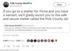 Florida sheriff offers suspects shelter from Irma in jail