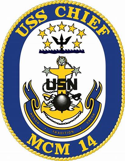 Chief Uss Navy Mcm Crest Officer Petty