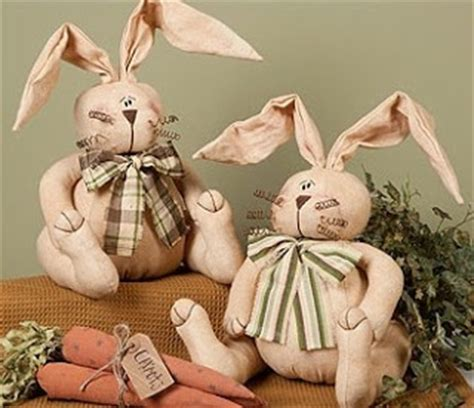 Primitive Easter Home Decor by Country Home Decor Primitive Country Easter Bunnies