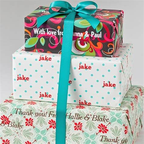 personalized holiday gift wrapping paper