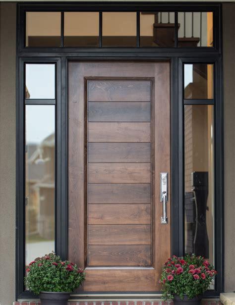 mid century modern teak sliding door exle of custom wood door with glass surround interior