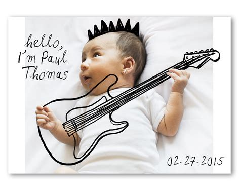 Adorably Clever Birth Announcements With Hand Drawings