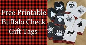 Buffalo Check Gift Tags Free Printable - House of Hawthornes