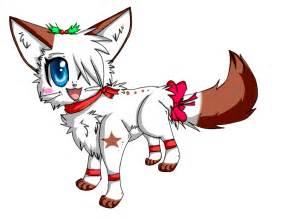 Christmas Anime Chibi Cat