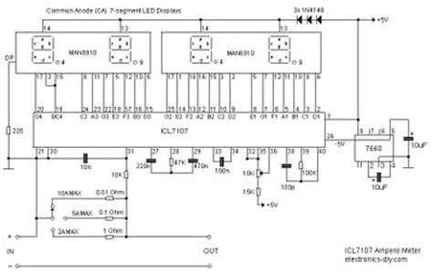 Digital Ampere Meter Circuit Diagram Wiring