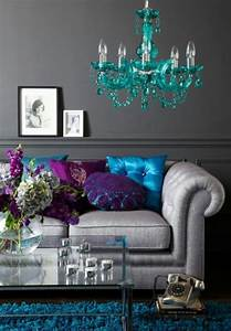 Grey blue teal purple living room how creative brown for Teal and purple living room