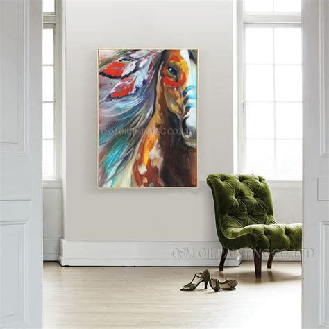 unique art gift high quality horse oil paints abstract pop