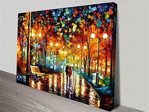 Rain Rustle Leonid Afremov Canvas Art Print
