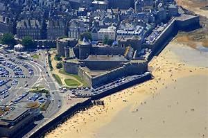 Saint Malo Castle Landmark In Saint Malo Brittany France