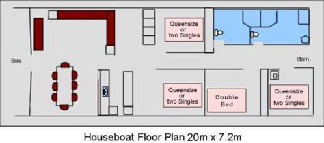 Houseboat Layout by Features Floor Plan Houseboats Riverland River Murray