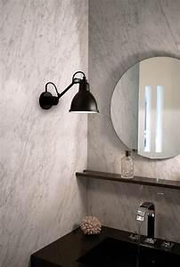 Applique Salle De Bain Noire : applique n 304 pour salle de bains lampe gras noir mat dcw ditions ~ Teatrodelosmanantiales.com Idées de Décoration