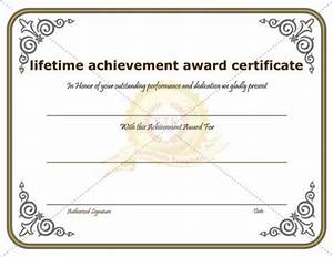 Lifetime Achievement Award certificate template is awarded ...