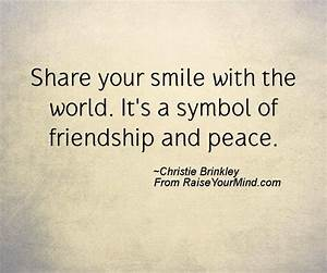 Happiness Quote... Peace Friendship Quotes