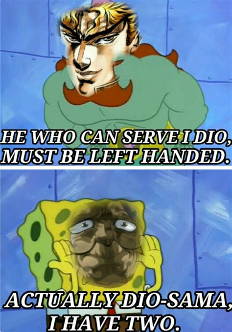 Spongebob Jojo Memes - gt in b4 h8 jojo s bizarre adventure know your meme