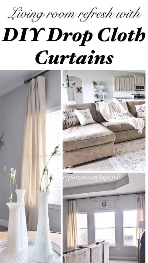 modern farmhouse living room refresh  diy drop cloth