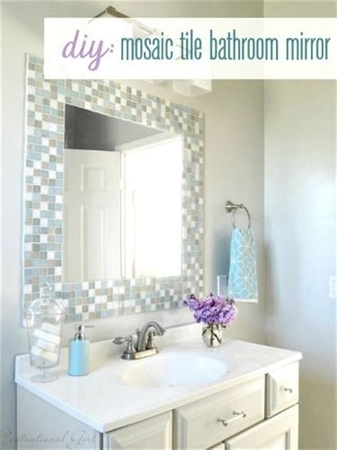 How To Decorate A Bathroom Mirror by 31 Ideas Of Using Mosaic Tile Around Bathroom Mirror
