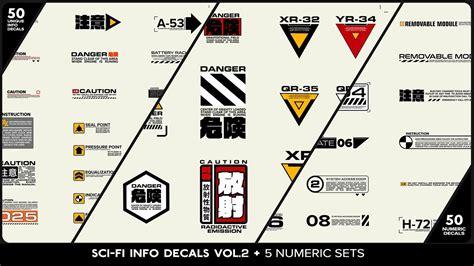 model sci fi info decals vol    numeric sets