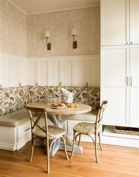 table with built in l cottage breakfast nook features an l shaped built in
