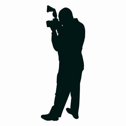 Silhouette Taking Photographer Camera Transparent Vector Svg