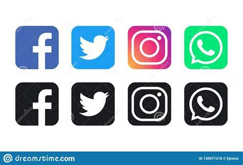 Logotipos De Facebook, De WhatsApp, De Twitter E De ...