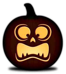 pumpkin carving templates simple faces orange