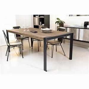 Table à Manger Bois Et Métal : table manger 200 x 100 cm bois et m tal meubles macabane meubles et objets de d coration ~ Teatrodelosmanantiales.com Idées de Décoration