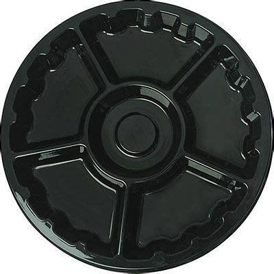 black plastic sectional platter  party city