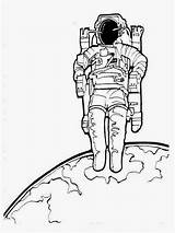 Astronaut Pages Colouring Coloring Realistic Astronauts Sheet Titan Chinese sketch template