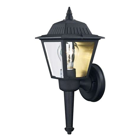 hton bay 1 light black outdoor wall lantern sconce kb