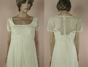 7039s vintage wedding dress elegant ivory wedding dress With 70s style wedding dresses