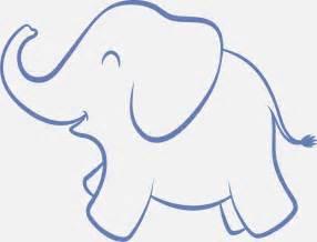 Baby Elephant Stencils Printable