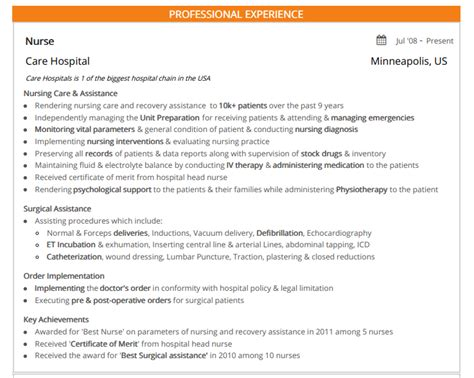 Chronological Resume Sle For Nurses by Nursing Resume 2019 Guide To Nursing Resumes Sles