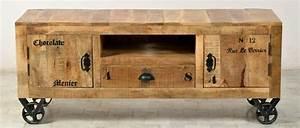 Tv Möbel Vintage : lowboard tv board kommode auf rollen mango holz antikfinish vintage wohnzimmer tv m bel ~ Sanjose-hotels-ca.com Haus und Dekorationen