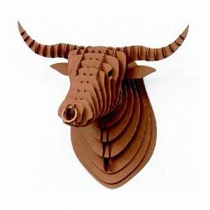 Tete De Vache Deco : troph e mural t te de taureau carton bull crembo troph es tete de taureau t te de vache et ~ Melissatoandfro.com Idées de Décoration