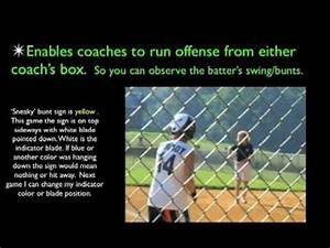 Softball Signs And Offense Youtube