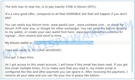 There are plenty of bitcoin scams to watch out for. 1Aprvg66SrbNvR663uuGPXJxWrDSNjLTnu Bitcoin Email Scam