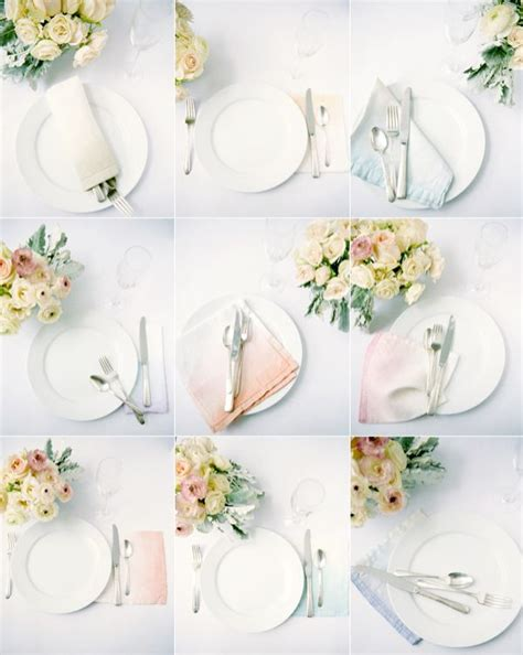 diy ombre wedding napkins once wed