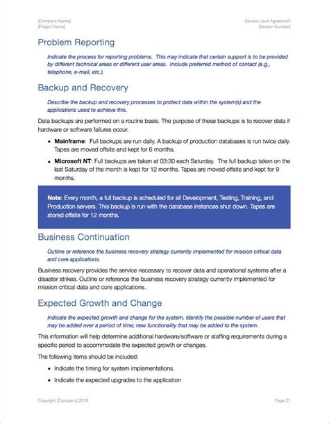service level agreement sla apple iwork pagesnumbers