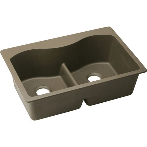 Elkay Harmony Egranite Sinks by Shop Elkay Harmony 22 In X 33 In Mocha Single Basin Basin