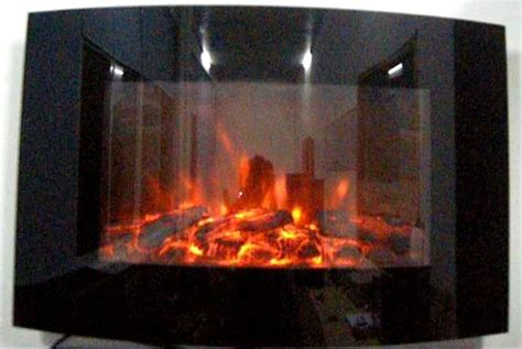 truflame wall mounted arched glass electric fire