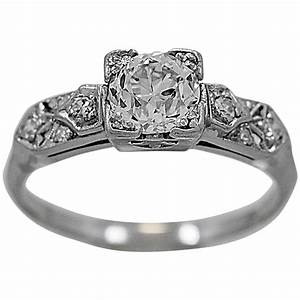 art deco 94 carat diamond platinum engagement ring for With wedding ring picture 94