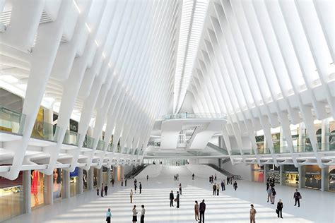 transit architecture santiago calatrava s world trade center transportation hub soars leaps and leaks archpaper com