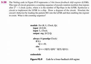 Solved  5 28 The Verilog Code In Figure P5 9 Represents A