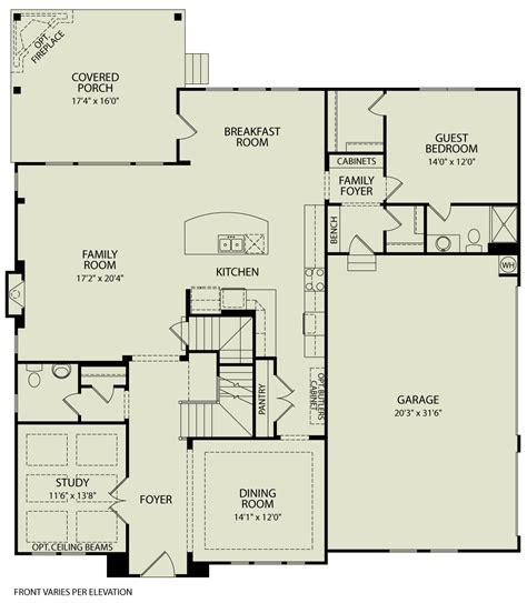 pembroke  drees homes interactive floor plans custom homes   custom price