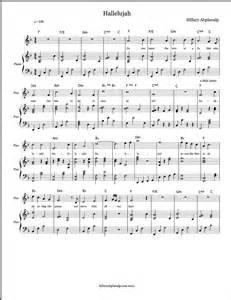Free Christmas Piano Sheet Music Hallelujah